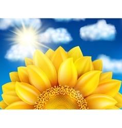Sunflower against blue sky EPS 10 vector image