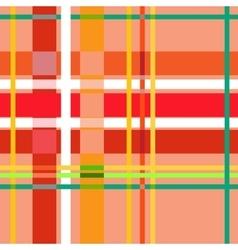 Tartan orange seamless pattern vector image