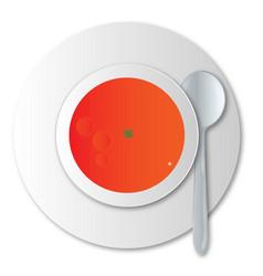 Tomato soup vector