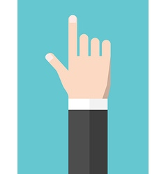 Touching hand flat style vector image