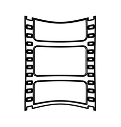 Video tape segment icon image vector