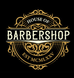 vintage barbershop logo vector image