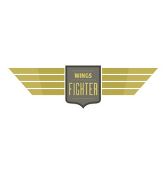 wings fighter icon logo flat style vector image