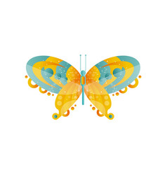 wonderful abstract butterfly with green and orange vector image