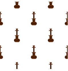 brown arabic hookah pattern seamless vector image