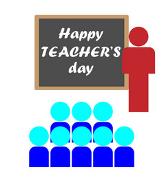 happy teachers day vector image