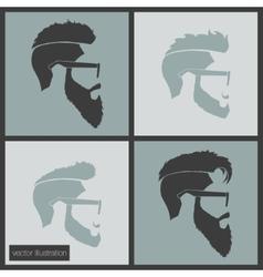 Icons hairstyles beard vector