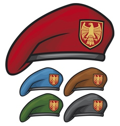 military beret vector image vector image