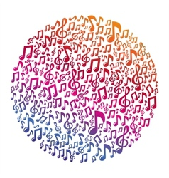music concept - musical notes vector image vector image