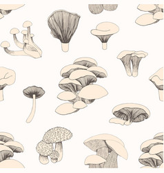 seamless pattern with mushrooms for design vector image