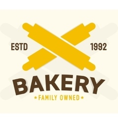 Bakery shop design element vector image vector image