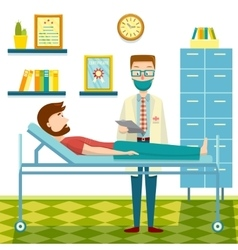 Doctor And Patient Flat Design vector image