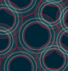 vintage circle seamless pattern with crepe paper vector image vector image