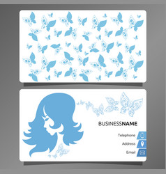 business card hairdresser and beauty salon vector image vector image