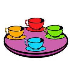 coffee-cup carousel icon icon cartoon vector image vector image