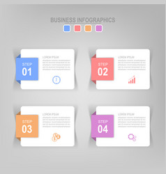 infographic flat design of business icon vector image