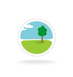 Landscape design logo template vector image
