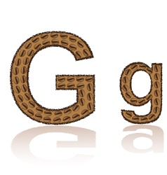 letter g is made grains of coffee isolated on whit vector image vector image