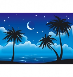 Night coast vector