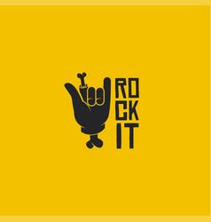 rock it logo rock sign logo vector image