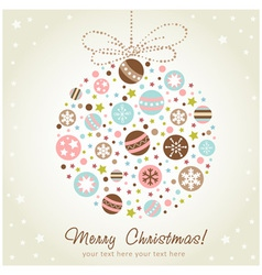 Stylized design Christmas decoration vector image vector image