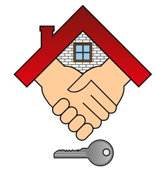 Buying a house - concept vector image