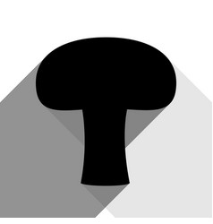 Mushroom simple sign black icon with two vector