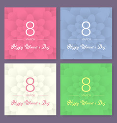 set of abstract floral greeting card - vector image