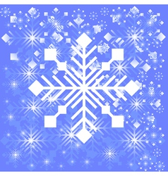 Snowflake light background vector image