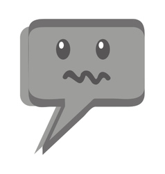 speech bubble face kawaii vector image