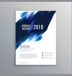abstract ink stroke brochure flyer design vector image