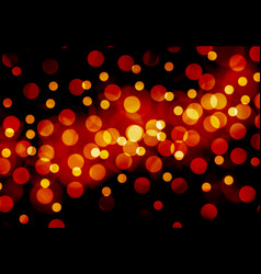 Abstract red yellow bokeh night background vector