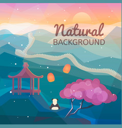 asian natural background vector image