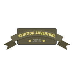aviation adventure 2018 icon logo flat style vector image