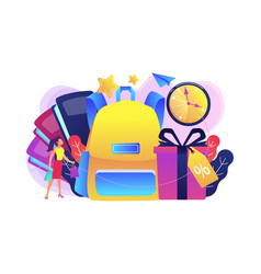 back to school sale and deals concept vector image