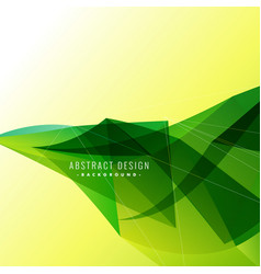 Background with green wavy abstract artwork vector