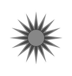 Black design element icon sun vector image