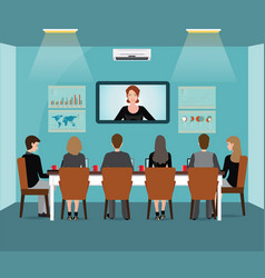 business meeting design with business people vector image