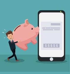 businessman paying bills vector image