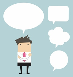 Businessman thinking with bubble chat vector image vector image
