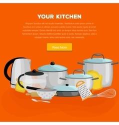 Cartoon kitchenware utensil collectionSteel vector