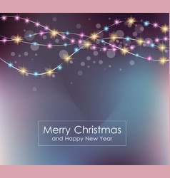 Christmas Lights Background for your seasonal vector