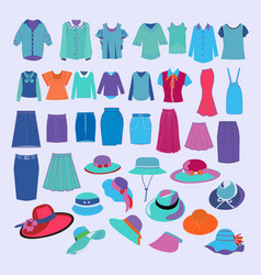 collection of fashion cloth and accessories vector image