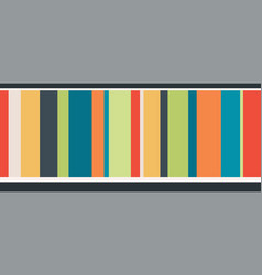 Colorful stripes seamless border vector