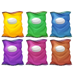 Colourful chips containers vector image