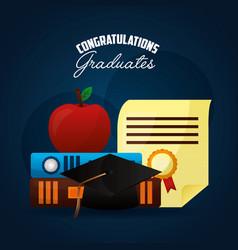 Congratulations graduation card vector