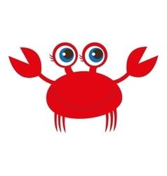 Crab animal cute marine vector