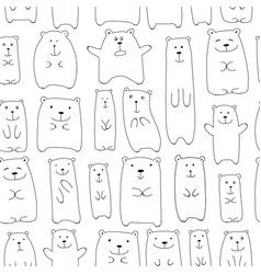 Cute bears family seamless pattern for your vector