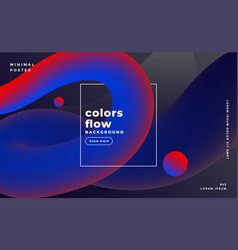 dark fluid colors background design vector image