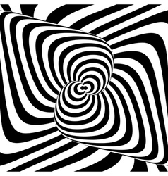 Design monochrome whirl background vector